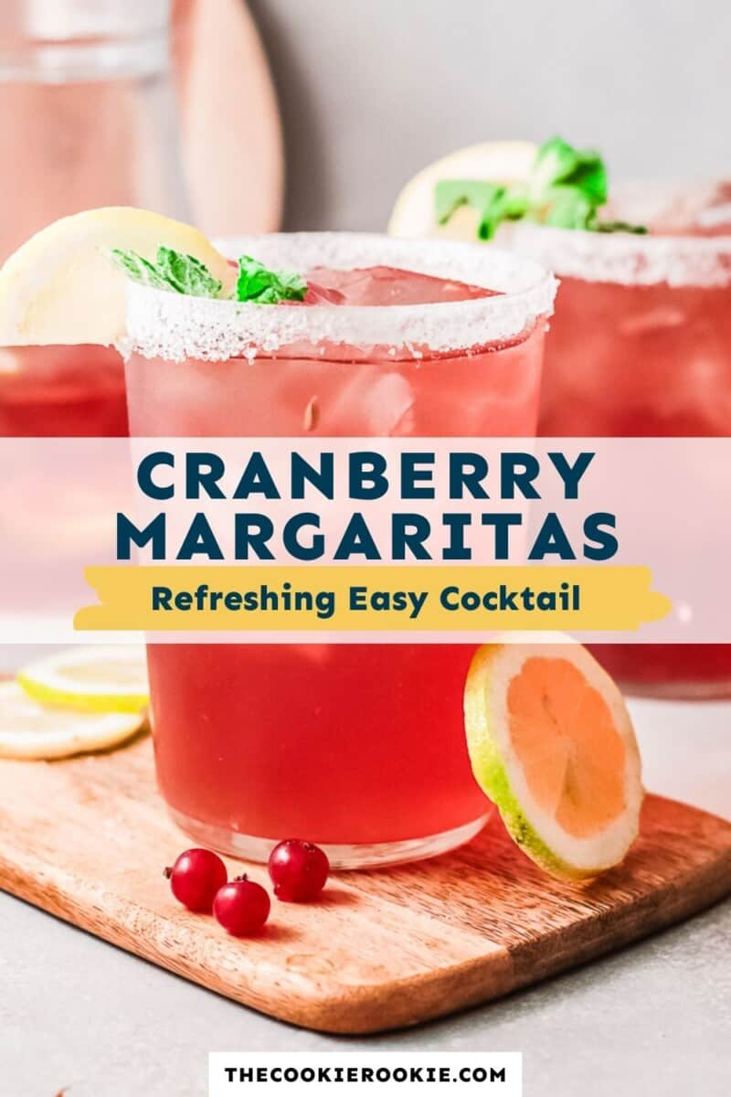 cranberry margaritas pinterest collage