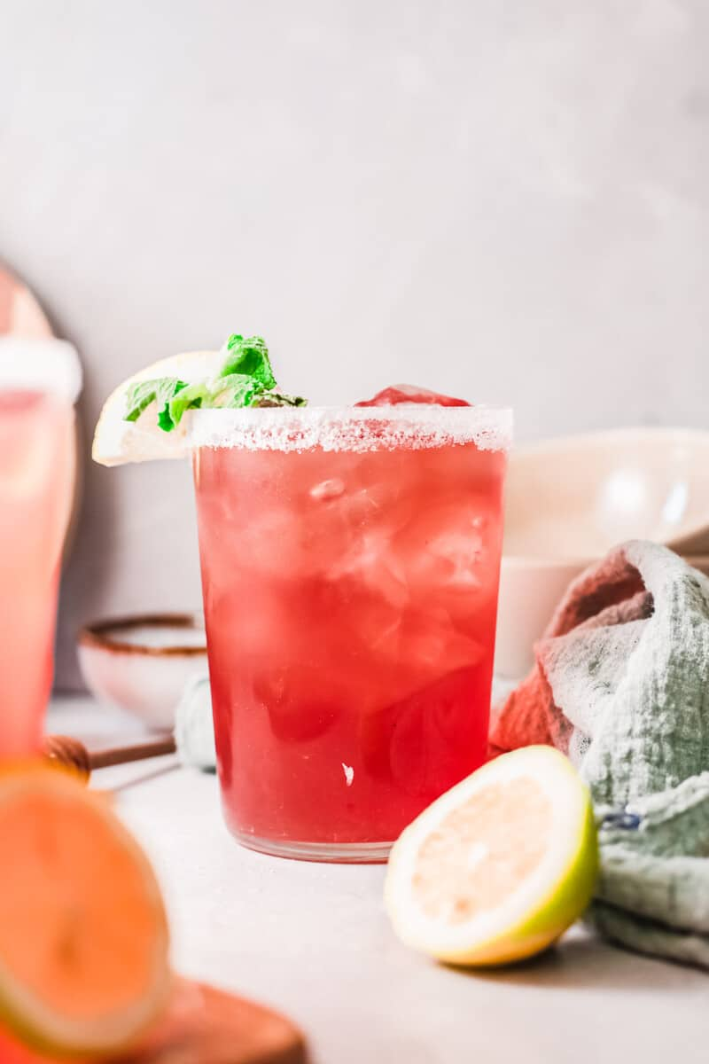 cup of cranberry margarita