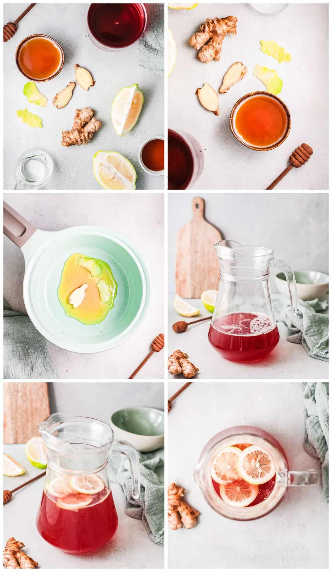 step by step photos for making cranberry margaritas