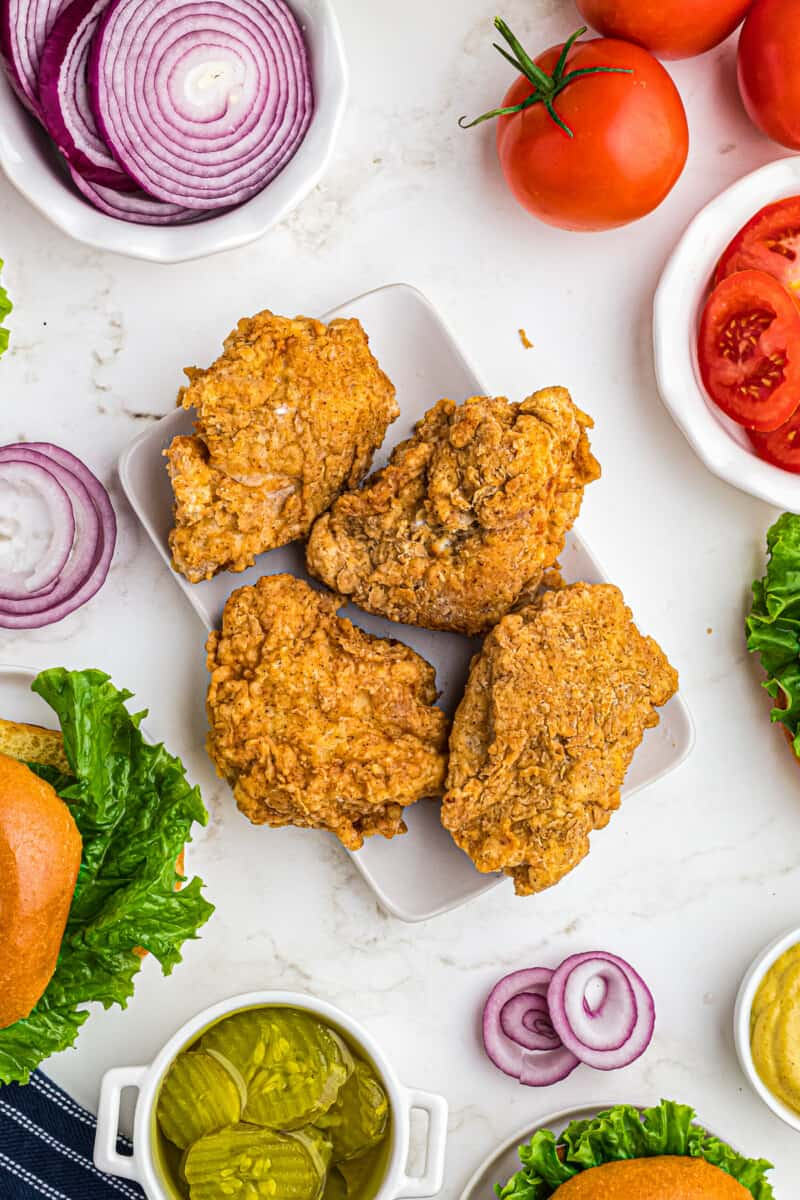 fried chicken breast for chicken sandwiches