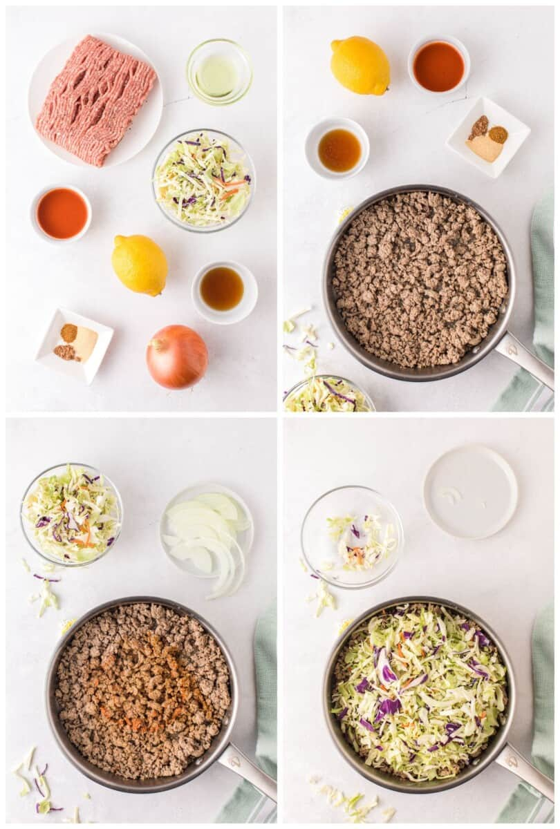 how to make egg roll in a bowl step by step photos