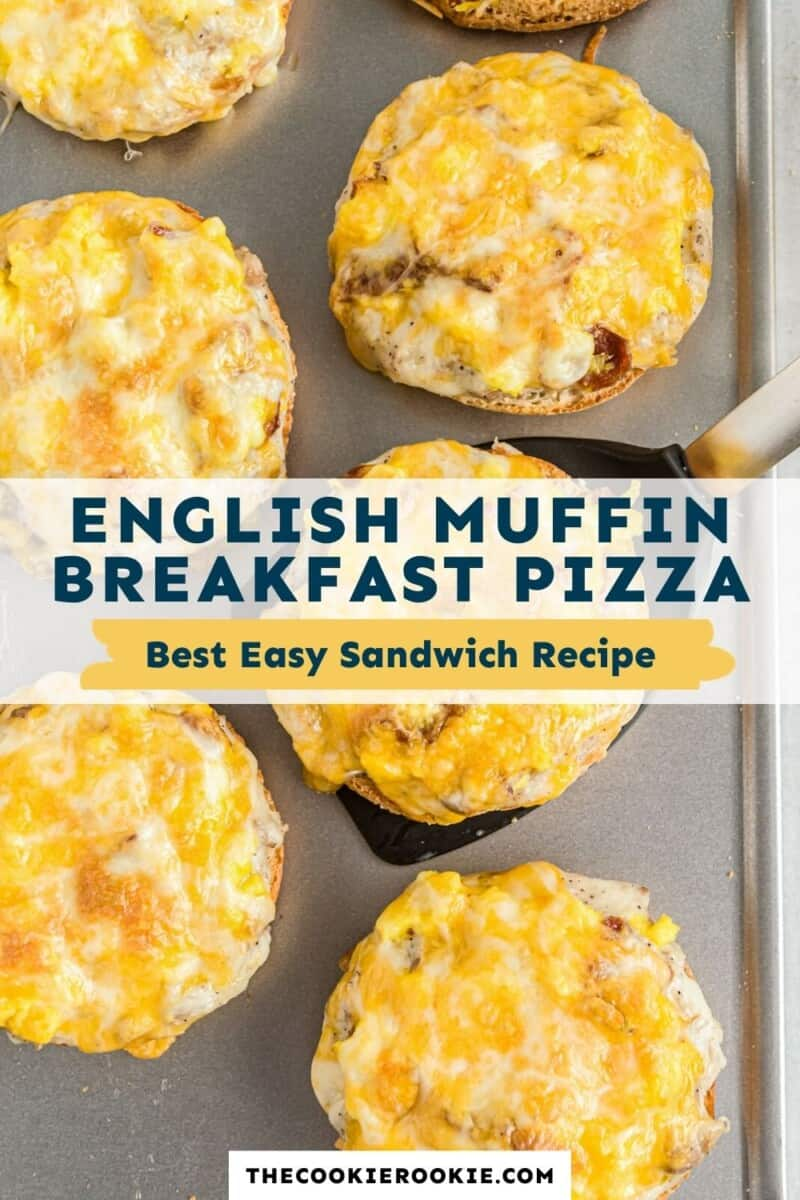 english muffin breakfast pizza pinterest