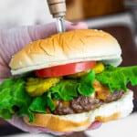 featured air fryer hamburger