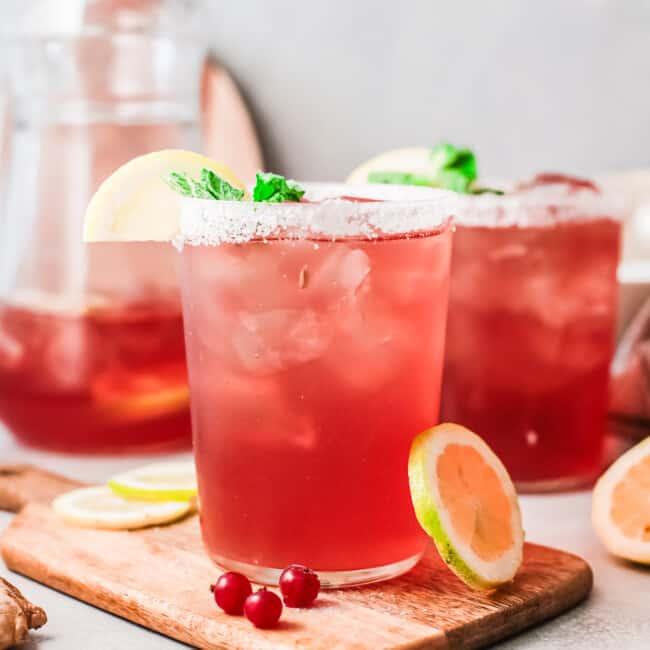 featured cranberry margaritas