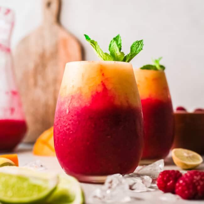 featured raspberry mango daiquiris