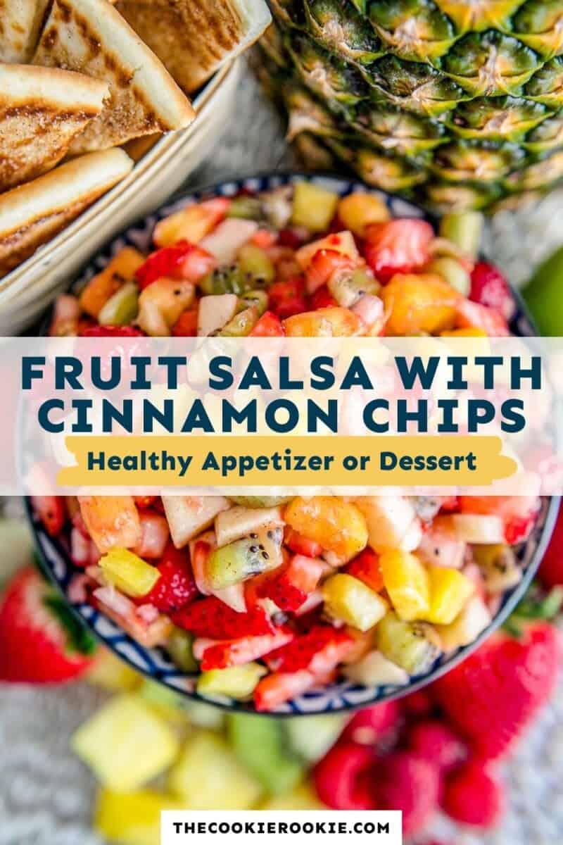 fruit salsa pinterest collage