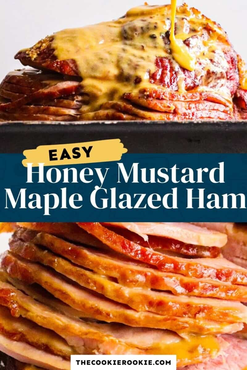 honey mustard maple glazed ham pinterest