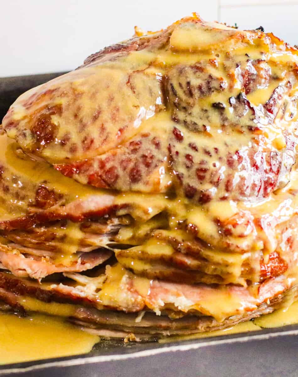 honey mustard maple glazed spiral ham