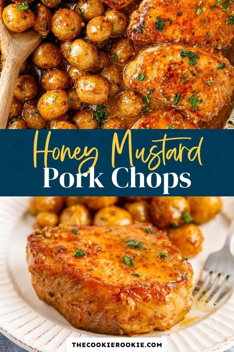 honey mustard pork chops pinterest collage