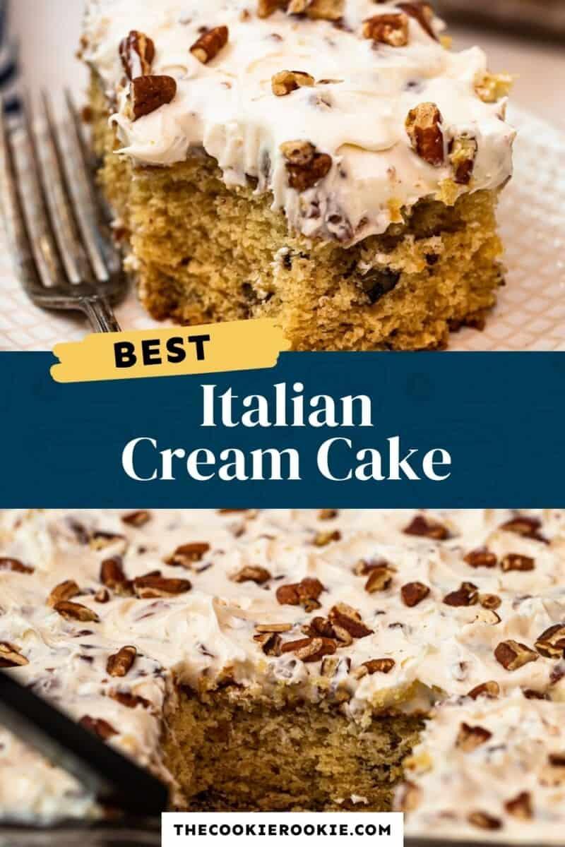Italian Cream Cake Pinterest