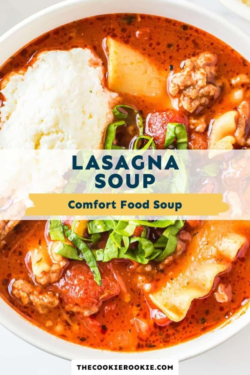 lasagna soup pinterest collage