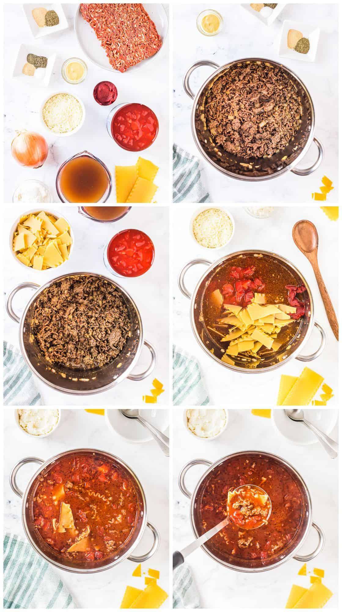 how to make lasagna soup step by step recipe photos