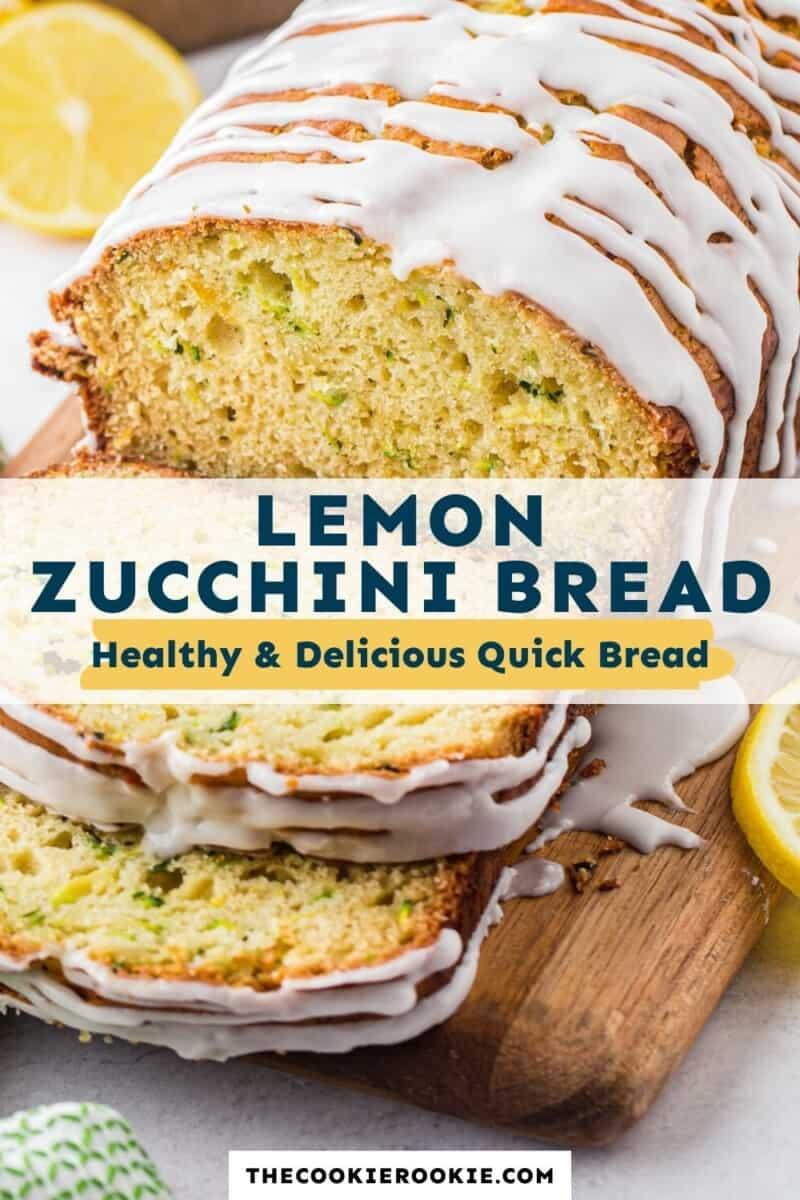 lemon zucchini bread pinterest collage