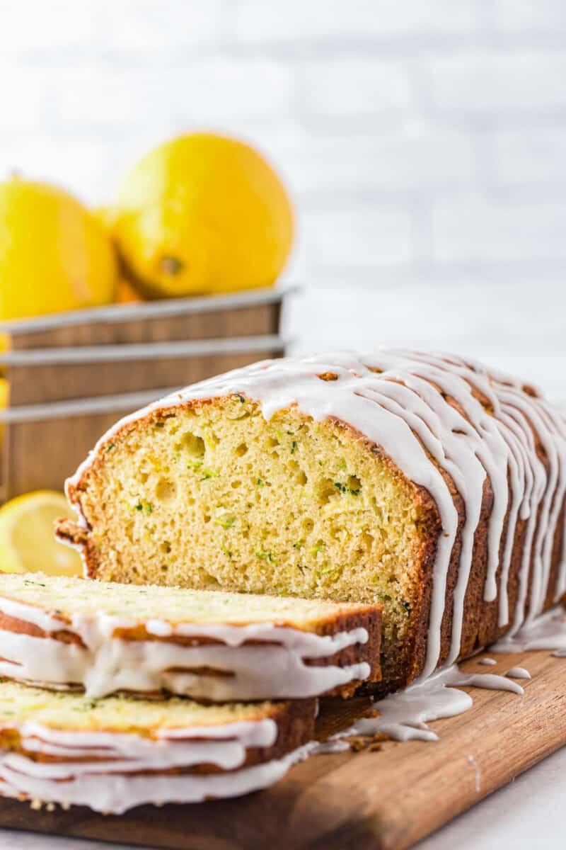 iced lemon zucchini bread