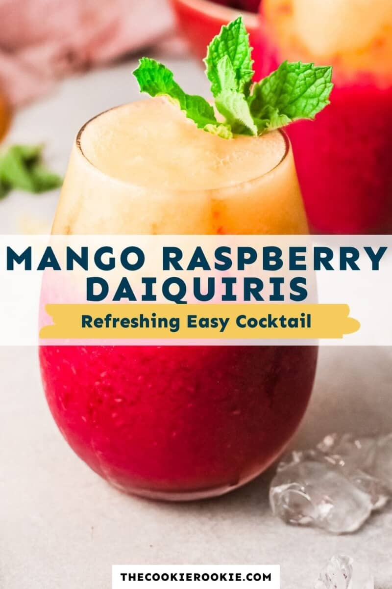 raspberry mango daiquiris pinterest collage