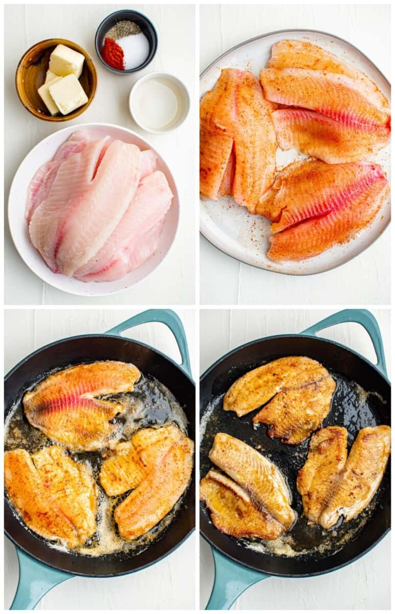 step by step photos of how to make pan fried tilapia