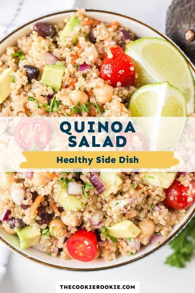 quinoa salad pinterest collage