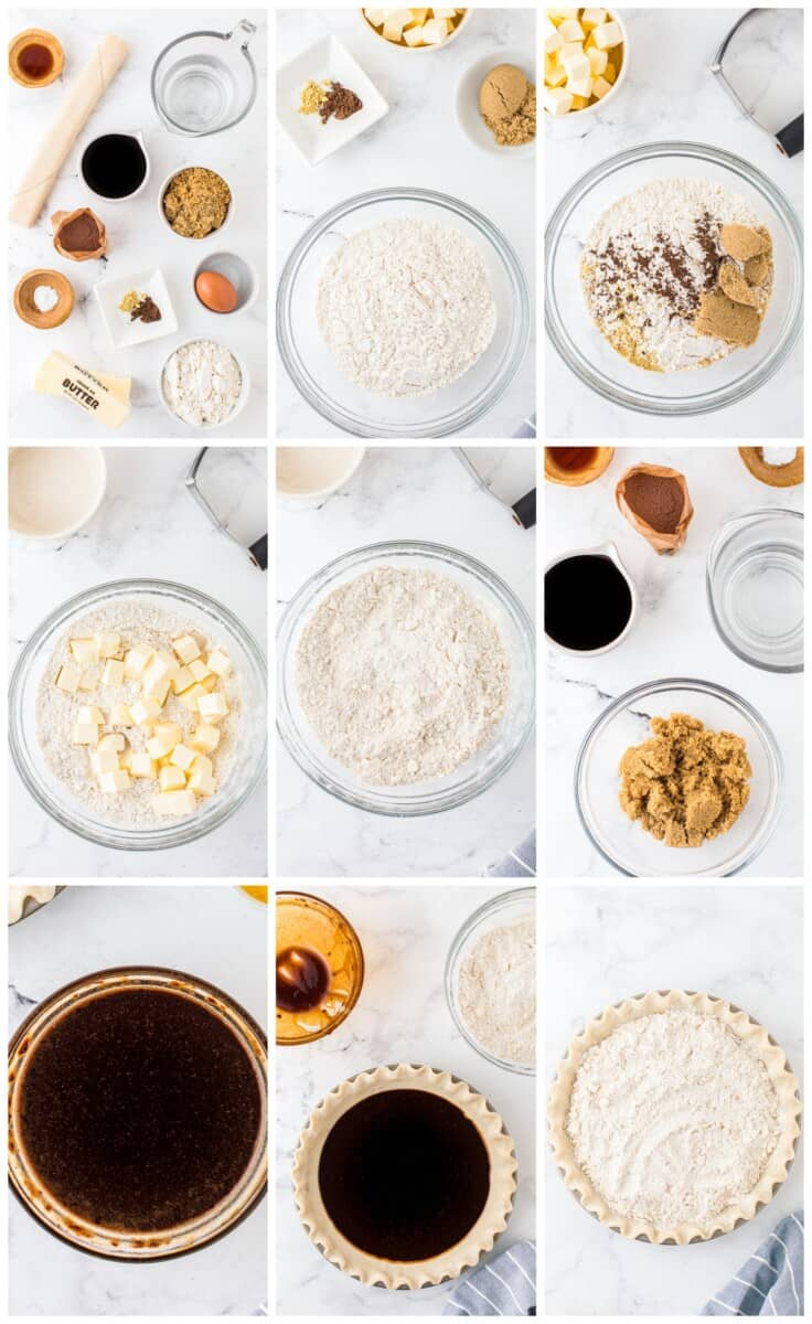step by step photos for how to make shoofly pie