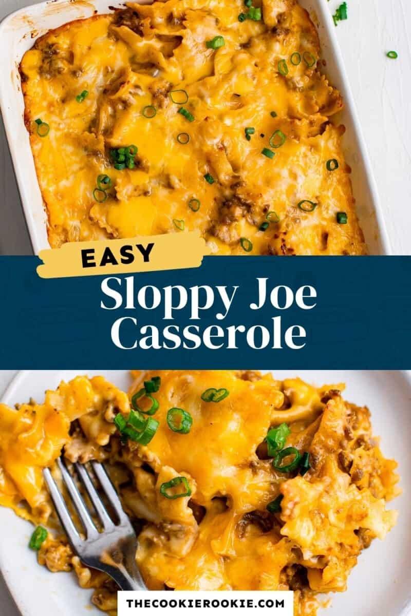 sloppy joe casserole pinterest collage