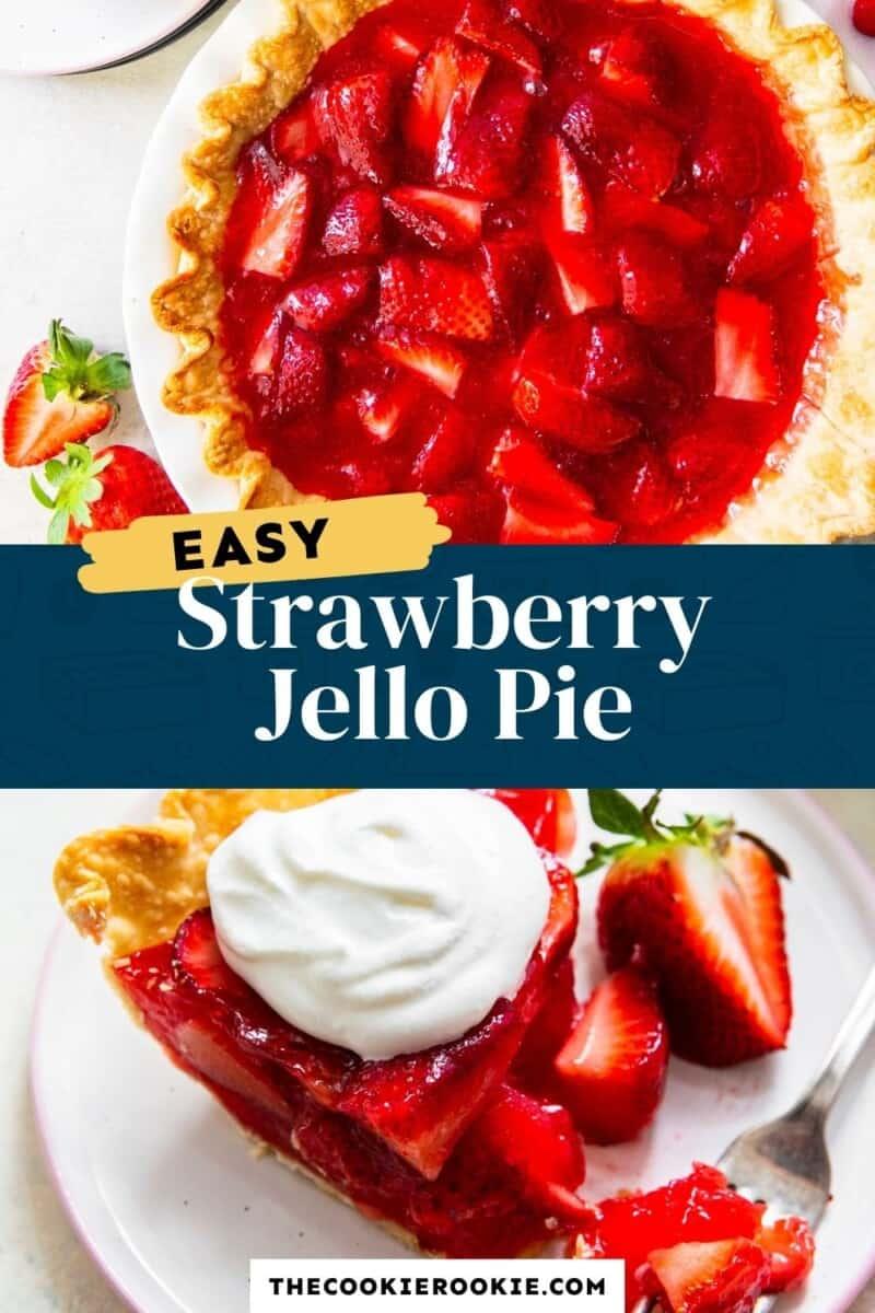 strawberry jello pie pinterest collage