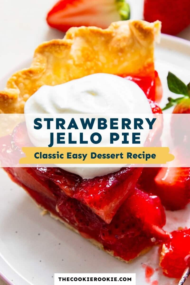 strawberry jello pie pinterest collage
