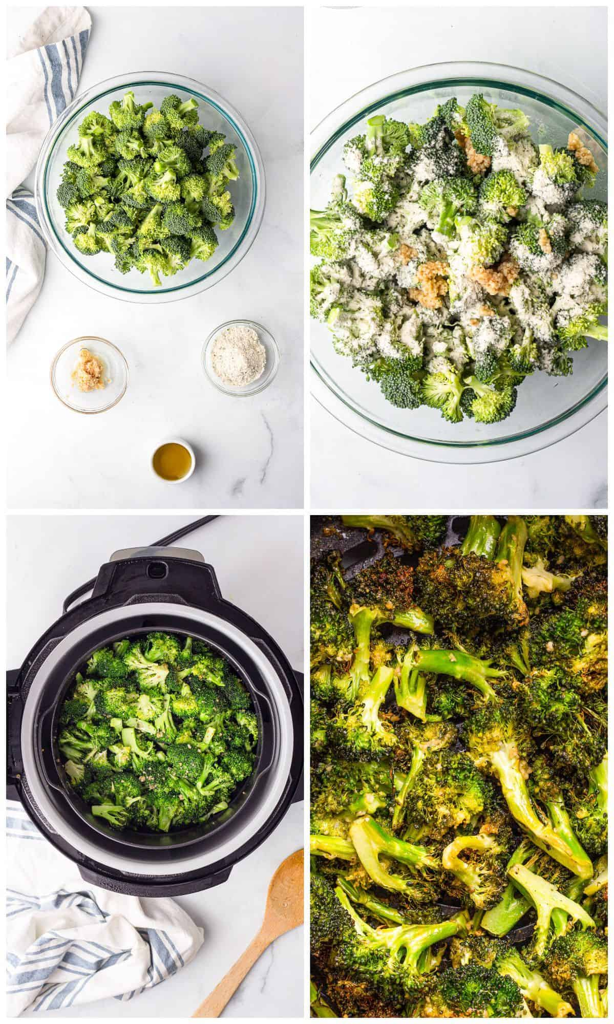 how to make air fryer ranch broccoli