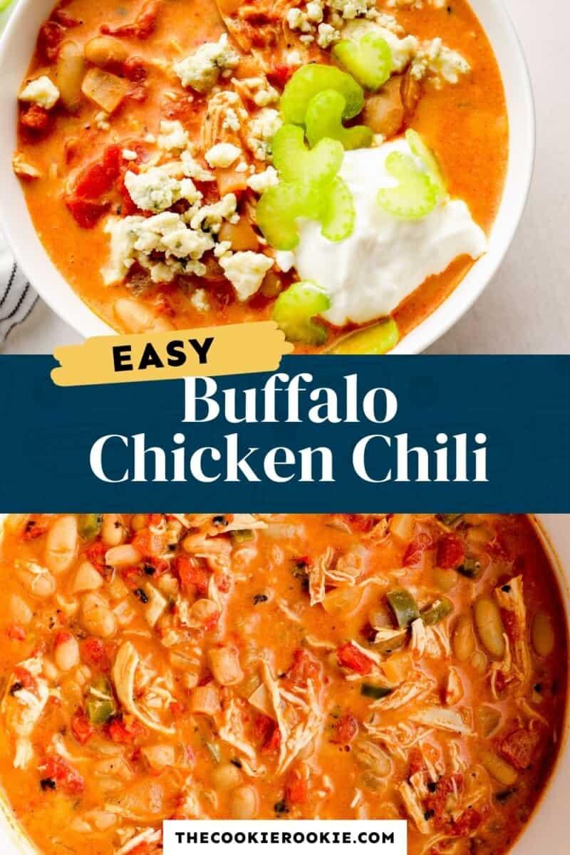 buffalo chicken chili pinterest collage