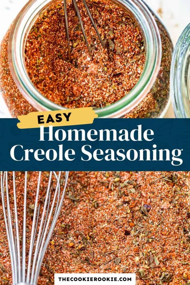 homemade creole seasoning pinterest collage
