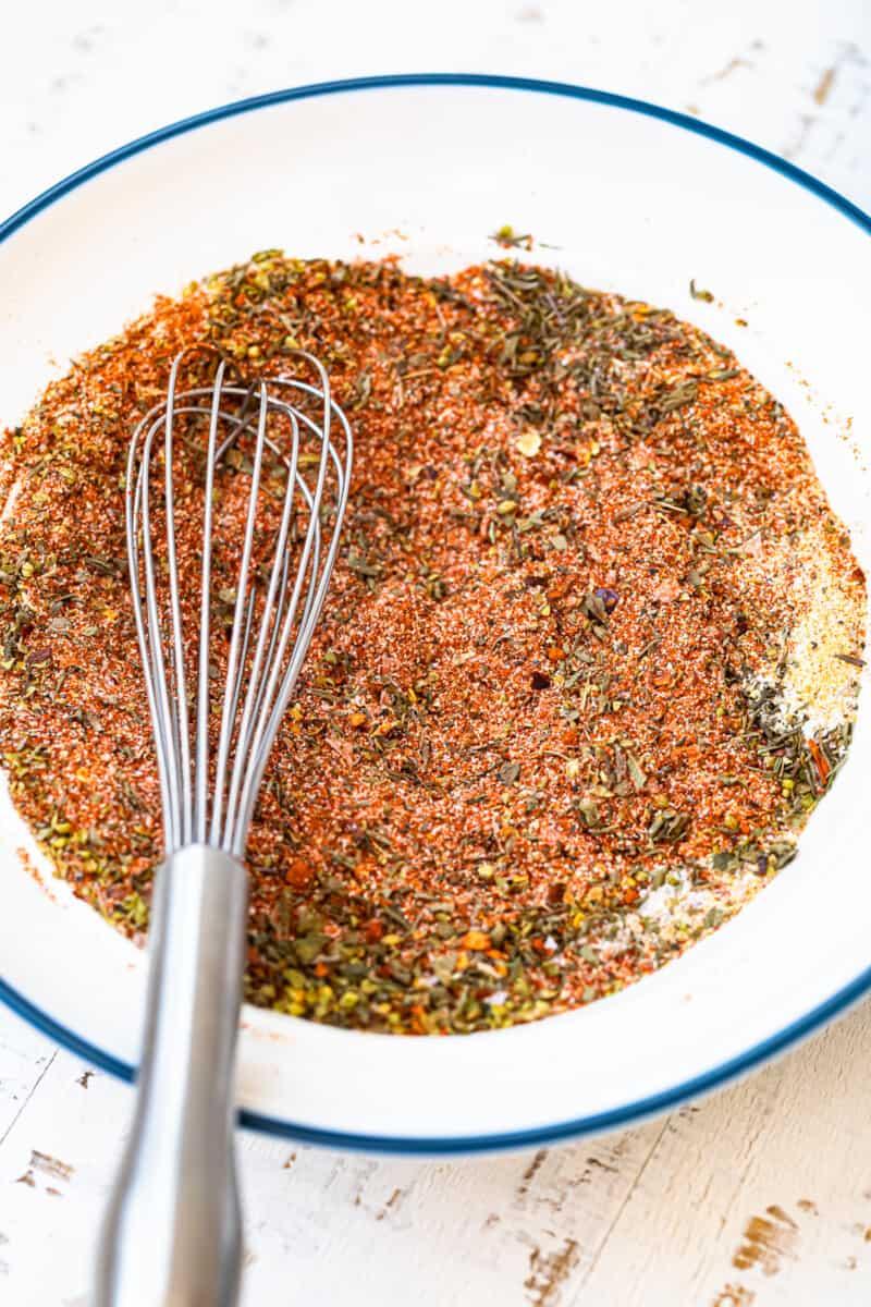 homemade creole seasoning on white plate