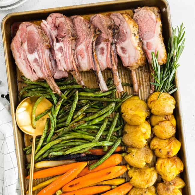 featured sheet pan easter dinner with lamb
