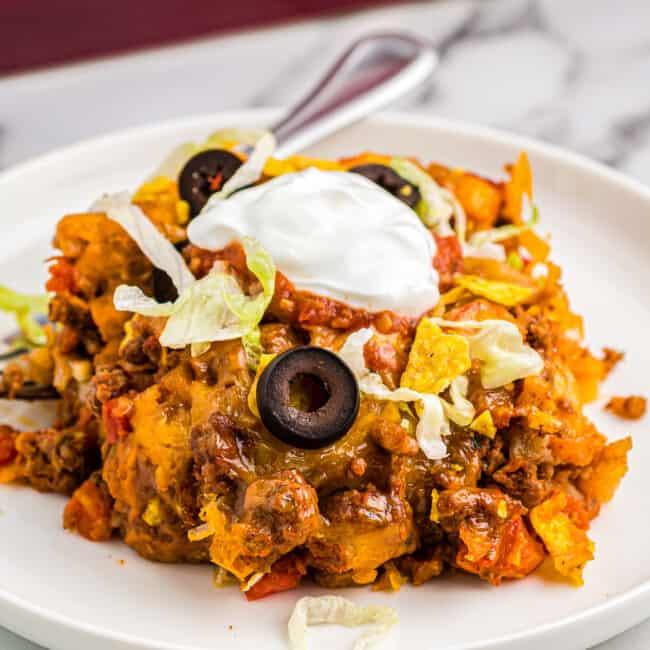 featured taco casserole