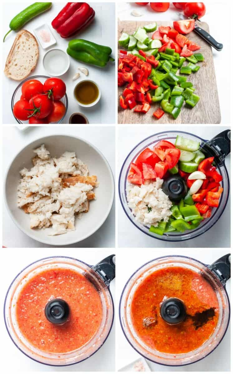 step by step photos for how to make gazpacho