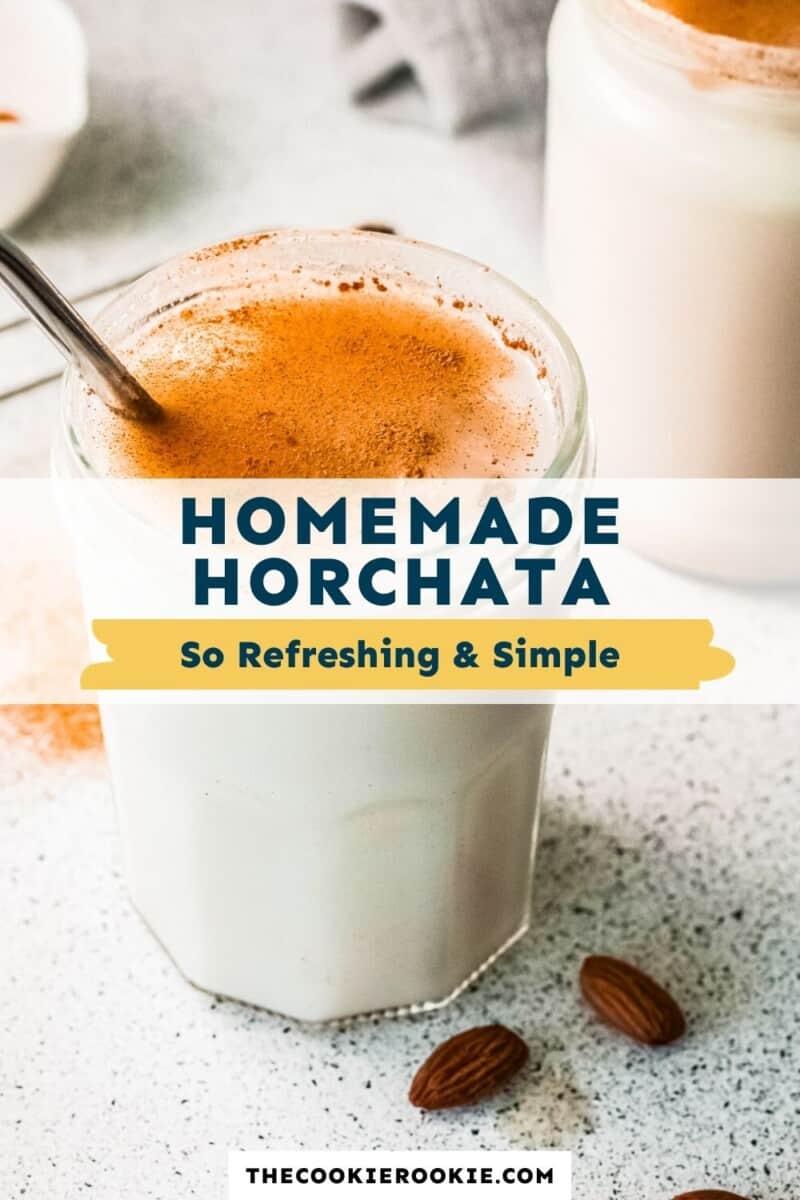 homemade horchata pinterest collage