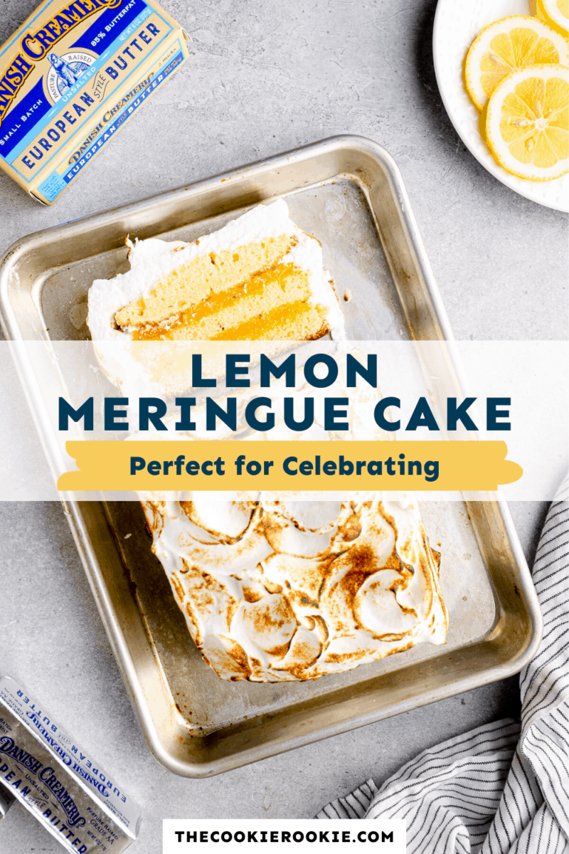 lemon meringue cake pinterest