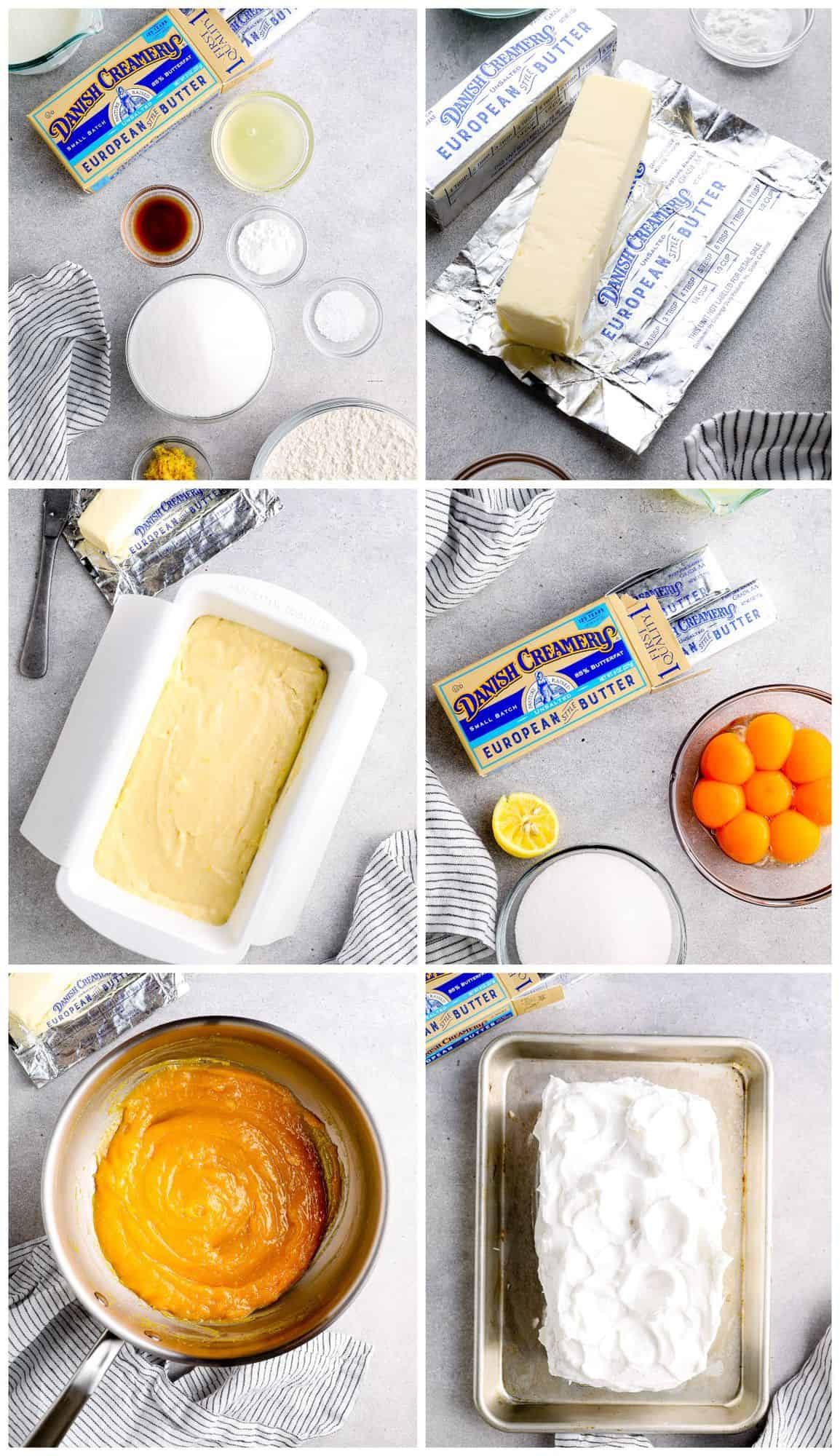step by step photos for how to make lemon meringue cake