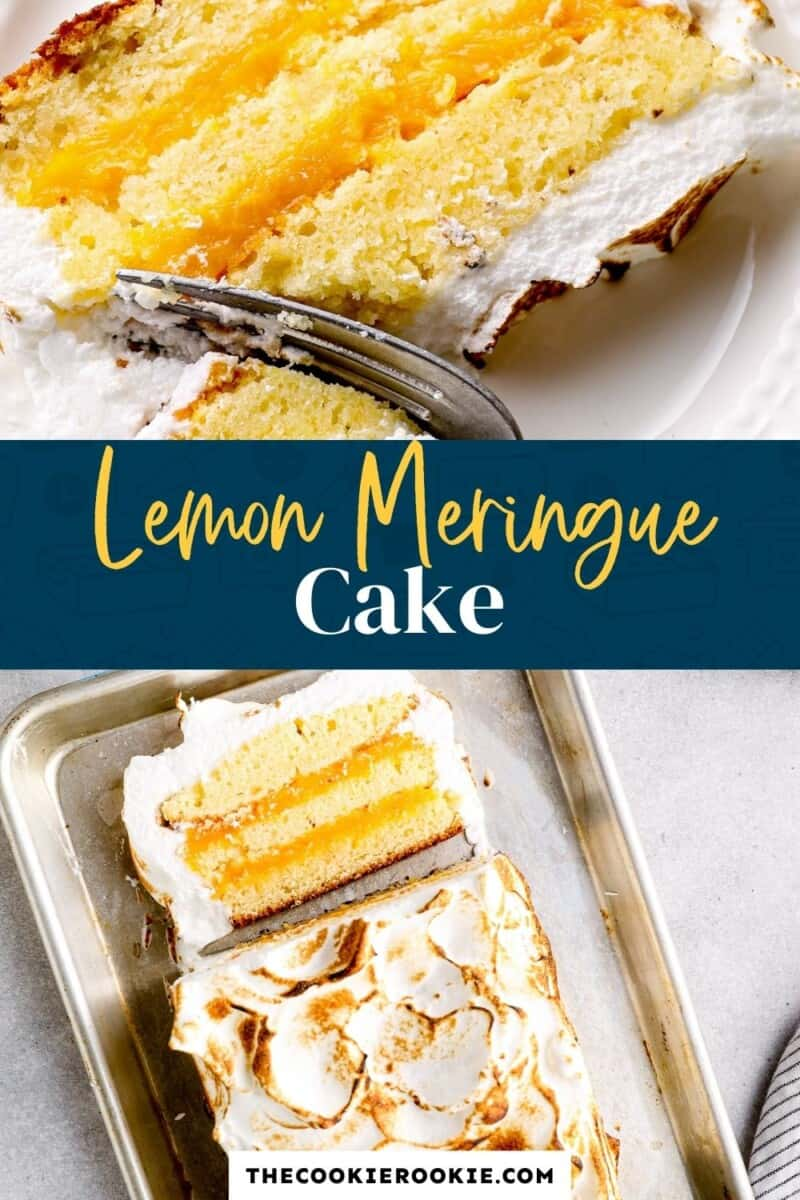 lemon meringue cake pinterest collage