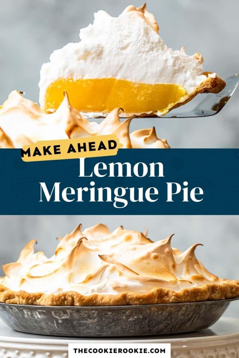 make ahead lemon meringue pie pinterest collage