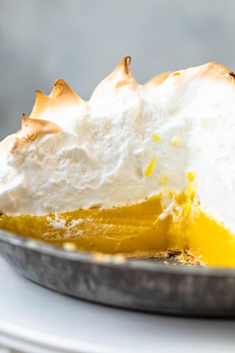 inside of lemon meringue pie