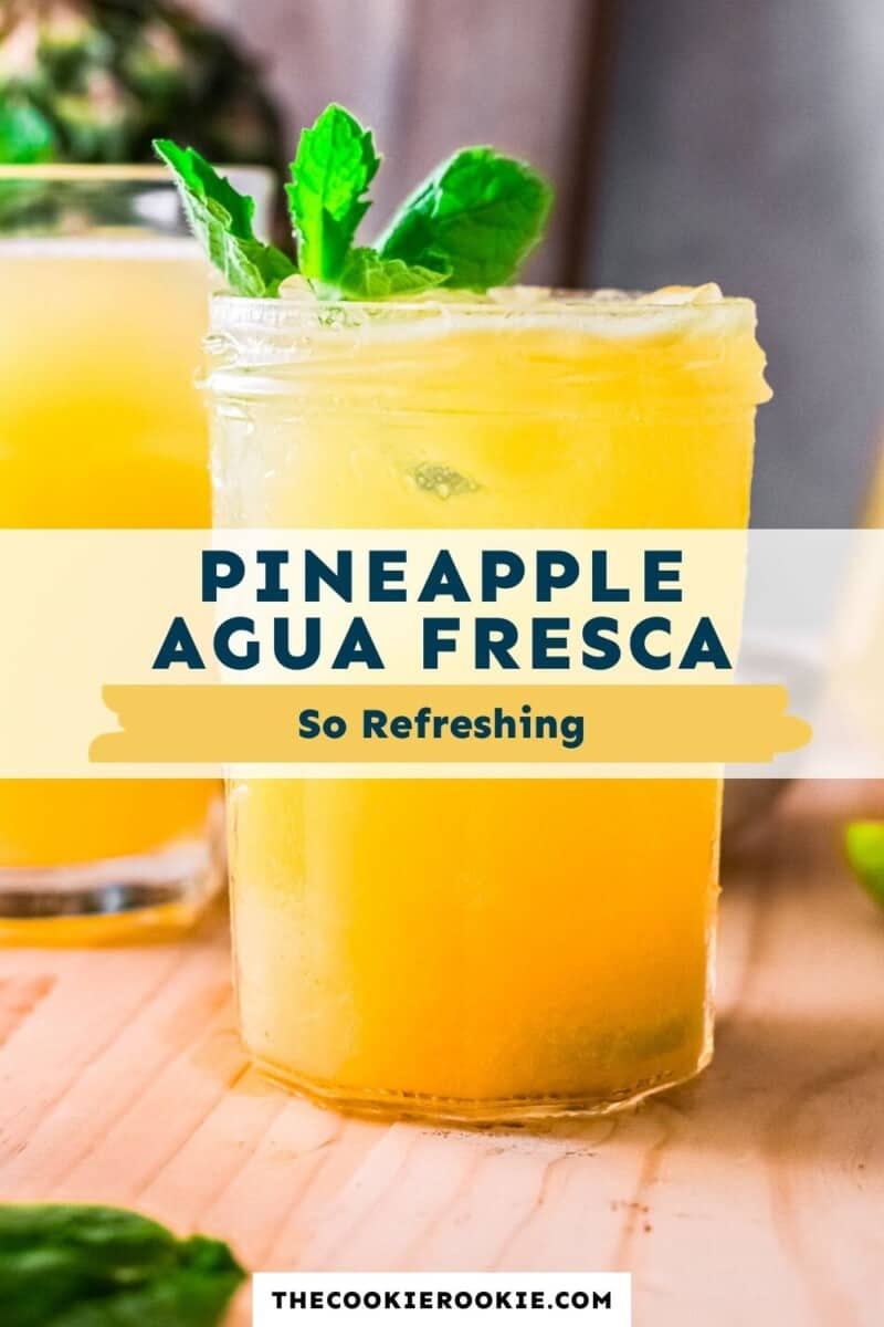 pineapple agua fresca pinterest collage