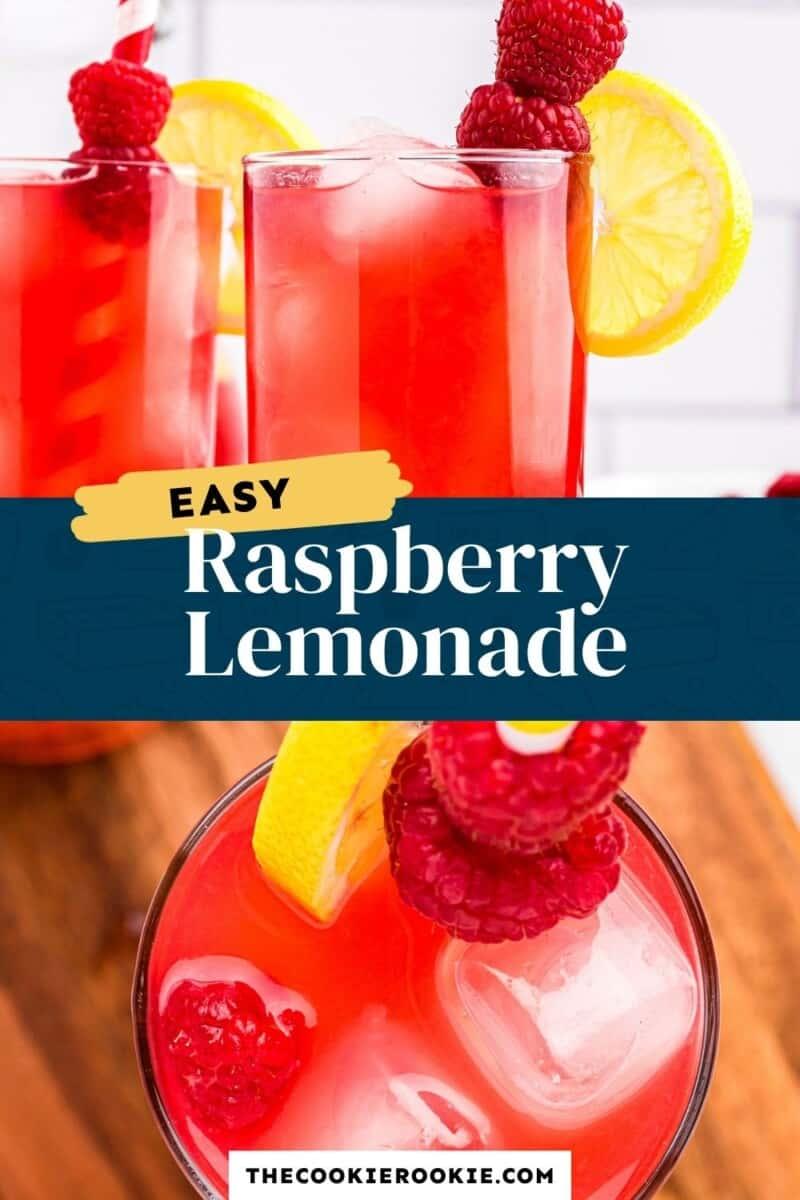 raspberry lemonade pinterest collage