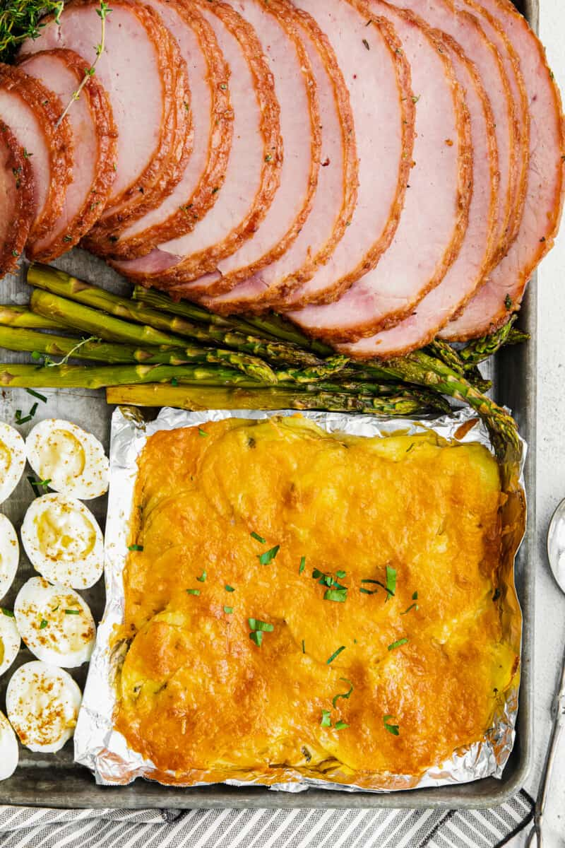 sheet pan easter dinner with ham