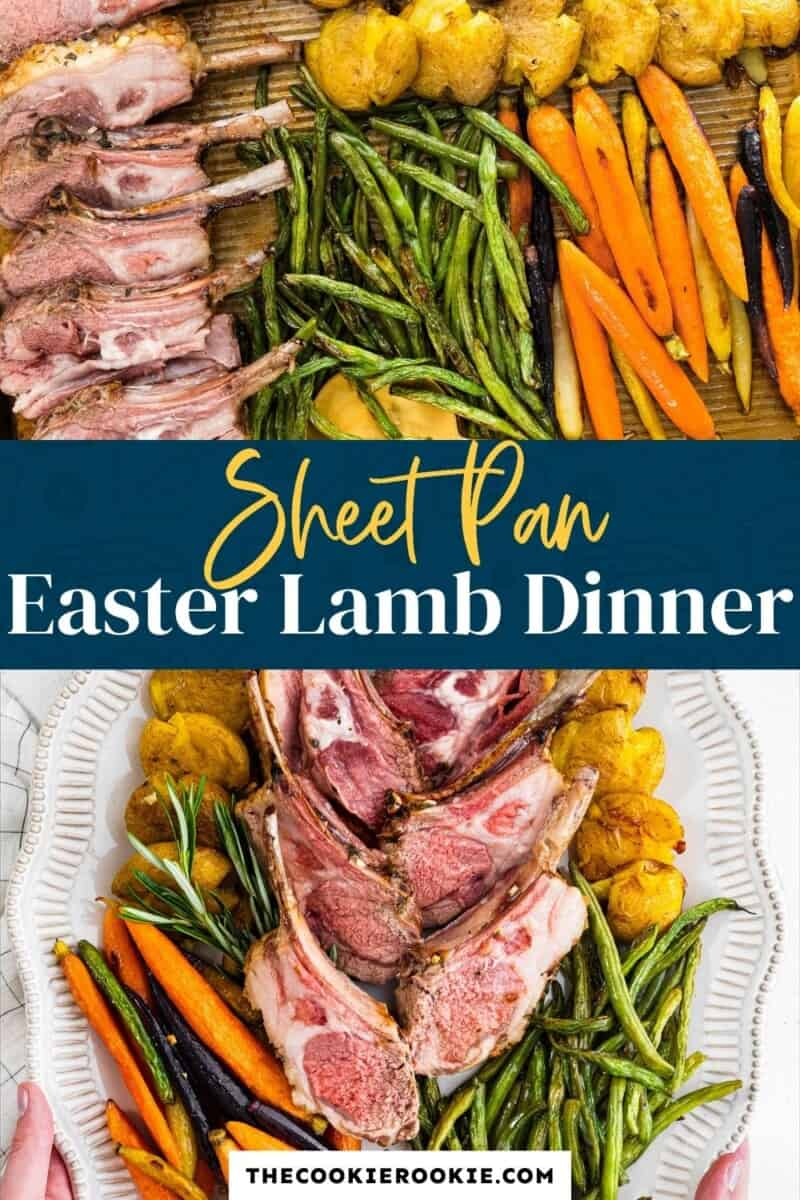 easter dinner with lamb pinterest collage