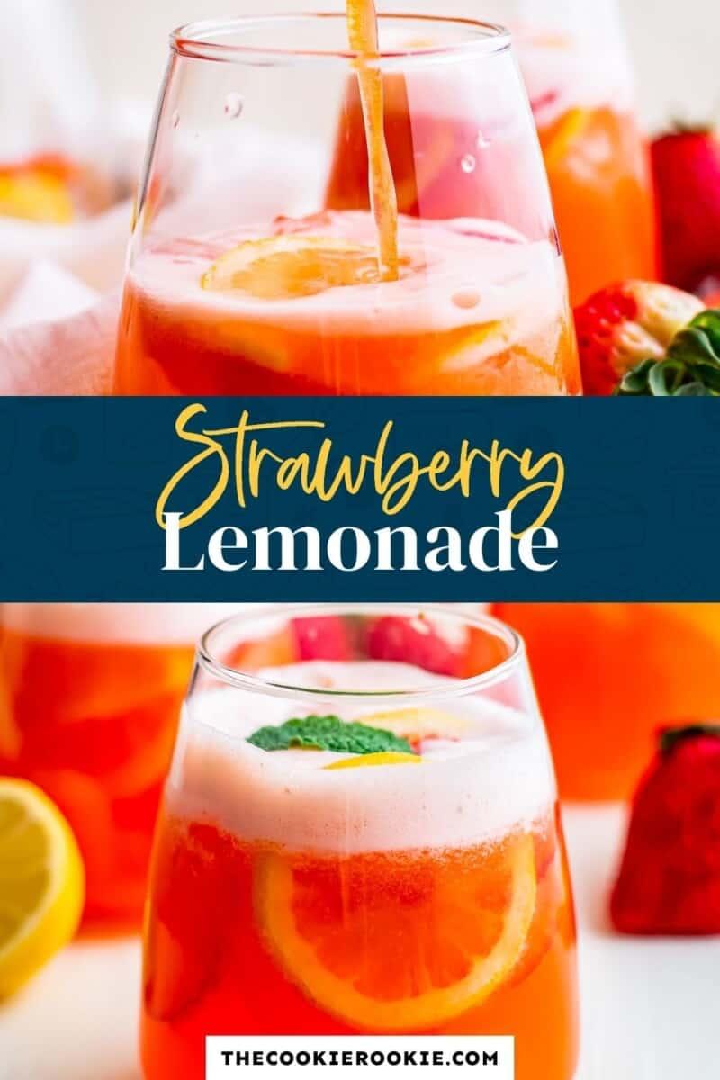 strawberry lemonade pinterest collage
