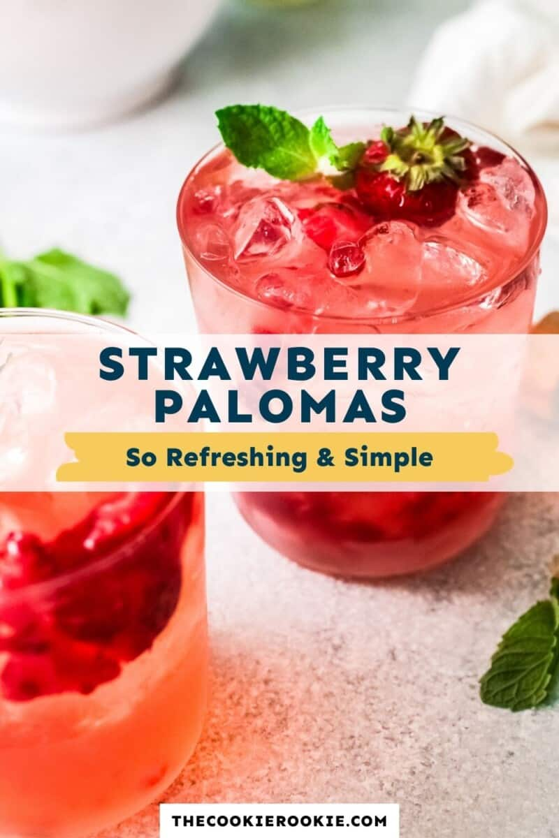strawberry palomas pinterest collage