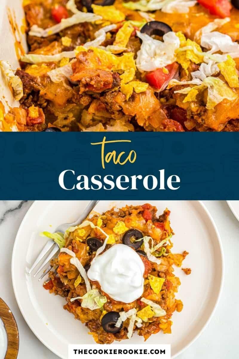 taco casserole pinterest collage