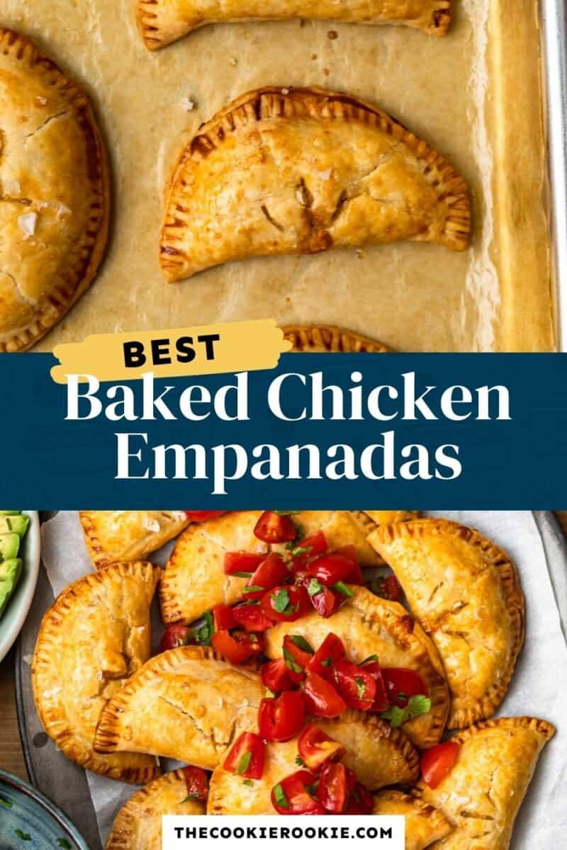 baked chicken empanadas pinterest collage