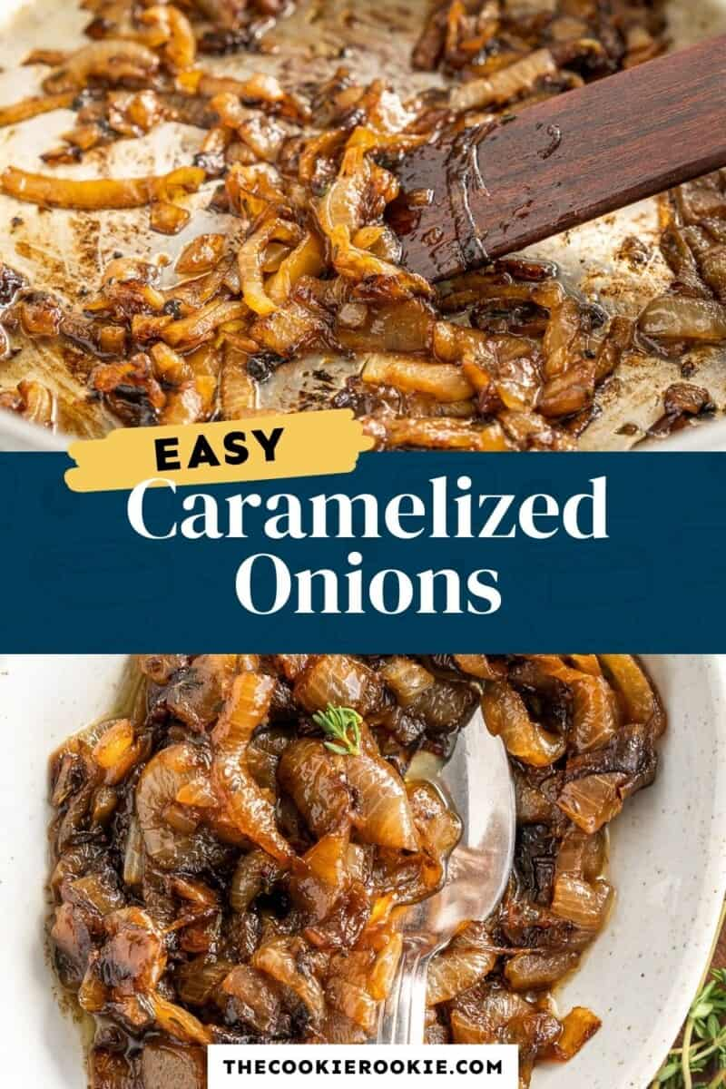 caramelized onions pinterest collage