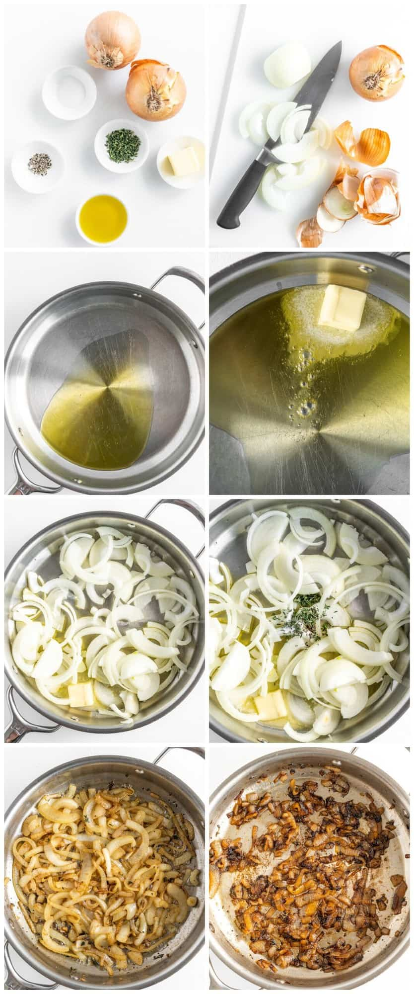 step by step photos for how to make caramelized onions