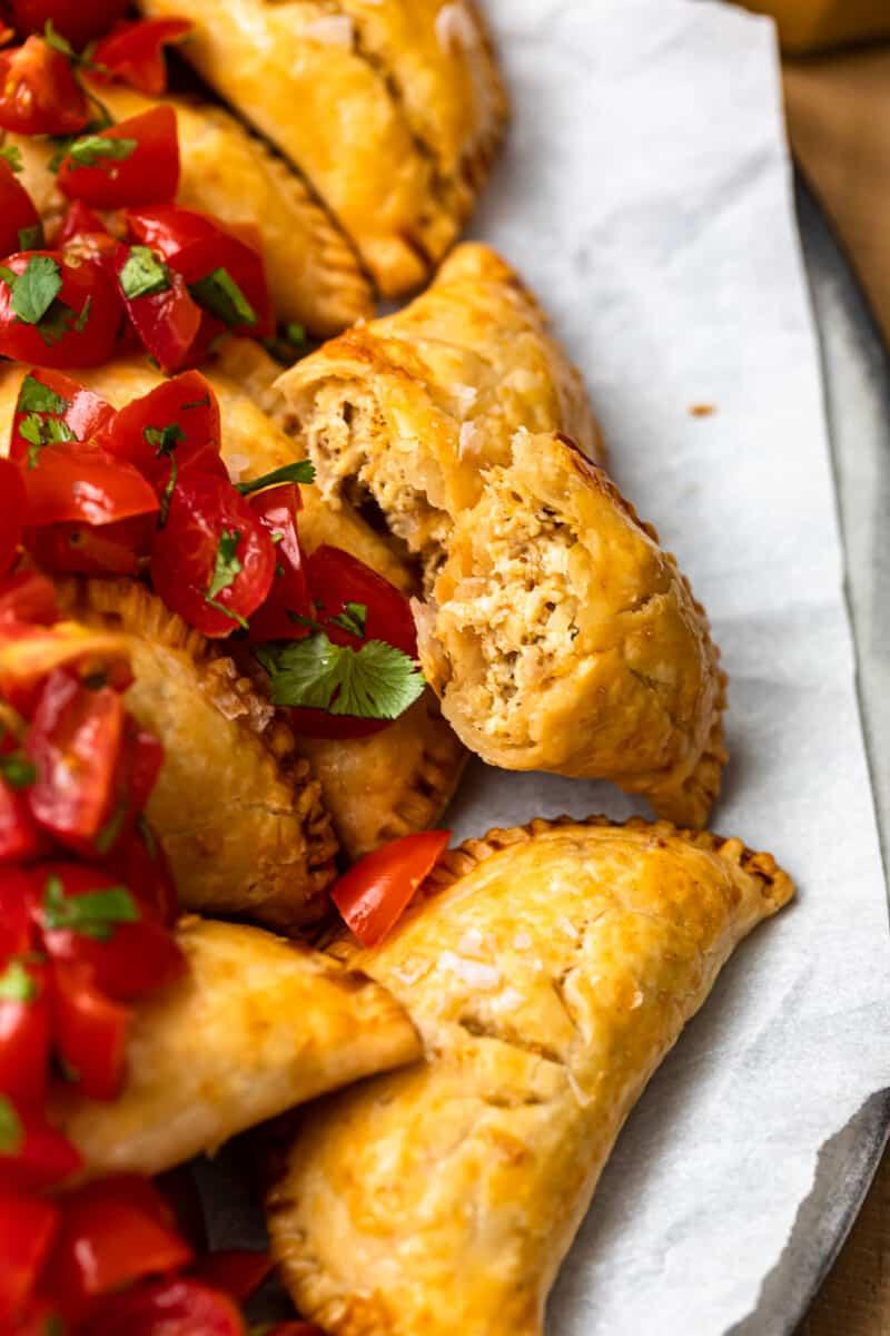 half of chicken empanadas