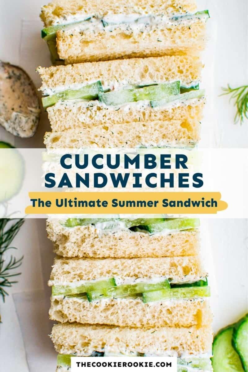 cucumber sandwiches pinterest collage
